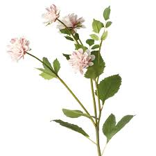 stem flowers faux dahlia flower stem pale pink oka
