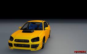 yellow subaru wrx subaru impreza wrx sti 2005 gta5 mods com