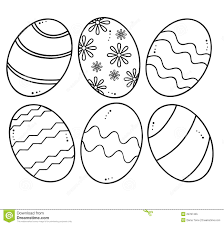 hand drawn easter eggs for coloring book stock vector image