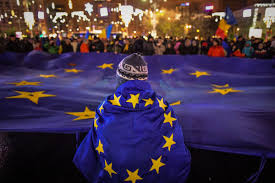 Flag Of The European Union Viewfinder An Anti Corruption Protest In Bucharest Pacific Standard