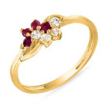 fashion golden rings images Ruby ring by mahi fr1100314 rings homeshop18 jpg