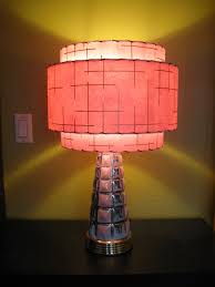 made to order mid century vintage style 3 tiered fiberglass lamp