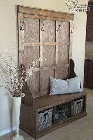 Wooden Bench Plans With Storage by Best 25 Wooden Bench With Storage Ideas On Pinterest Headboards