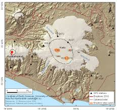Iceland On Map Overview Map Of Katla Volcano And Mýrdalsjökull Glacier In Iceland