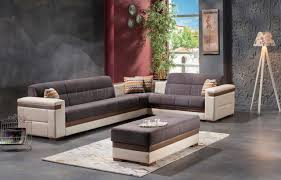 Sectional Sofas Gray Moon Zigana Gray Sectional Sofa Bed In Fabric By Sunset