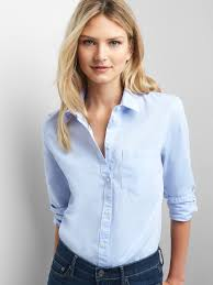 oxford blouse fitted boyfriend oxford shirt gap
