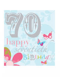 70th birthday cards think of me designs age birthday cards
