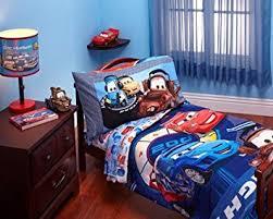 toddler bed blanket amazon com disney cars max rev 4 piece toddler bed bedding set