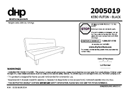 Futon Assembly Instructions - Sofa bed assembly