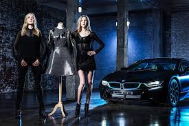 fashion designers create dress out of carbon fiber from bmw