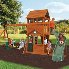 backyard discovery somerset wood swing set hayneedle