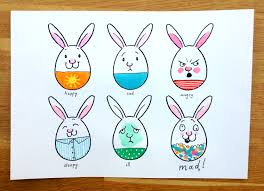 martha u0027s bunny faces drawing game sunny side up