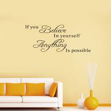 brand new believe yourself motivating quote maxim decoration