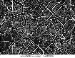 map pattern black white vector city map rome stock vector 555800767