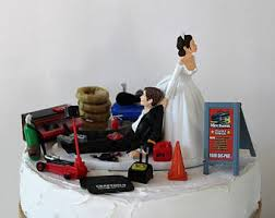 mechanic wedding cake topper mechanic cake topper etsy