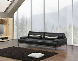 Wood And Leather Sofa Decor Sophisticated Black Thomasville Leather Sofas For Living