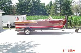 antique mahogany correct craft 18 ft inboard boat 1957 for sale