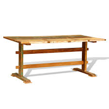 Antique Wooden Dining Table Multicolor Reclaimed Wood Dining Table Vintage Antique Style