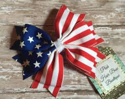 fourth of july hair bows patriotic hair bow etsy