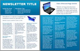 technology business newsletter template jpg