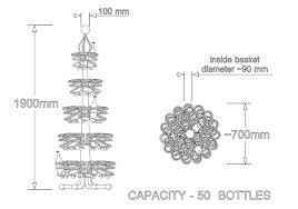wine rack type pine tree assf advanced stainless steel furniture