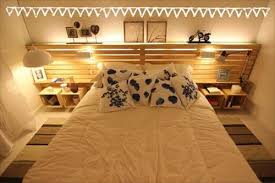 Bed Headboard Lights 10 Diy Pallet Beds With Lights Pallets Designs