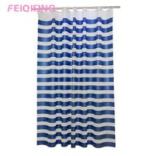 Blue And White Striped Shower Curtain Compare Prices On Blue Stripe Shower Curtain Online Shopping Buy