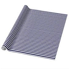 navy blue wrapping paper classic navy blue and white stripe pattern wrapping paper zazzle