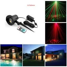 Laser Stage Lighting Outdoor by Laser Christmas Lights Outdoor Remote Rg 12 Patterns Waterproof