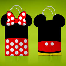 mickey mouse gift bags printable minnie mouse favor bags mickey treat bag