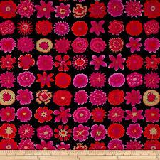button flowers kaffe fassett collective button flowers black discount designer