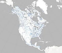 North America Maps by New Map Plots North America U0027s Bounty Of Rivers Wired