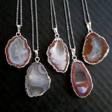 silver agate necklace images Silver geode necklace silver geode from sinus finnicus stones jpg