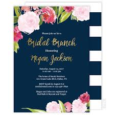 bridal brunch invite bridal brunch invitation navy and gold floral watercolor