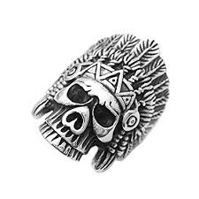 buy skull rings images Buy phenovo men stainless steel gothic ring indian chief skull jpg