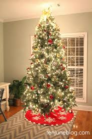 and gold tree green skirtred decorations