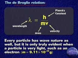 what is the significance of de broglie s equation equations