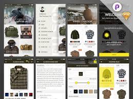 shop ios app ui and prototype sketch freebie download free