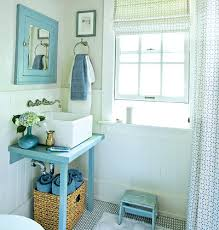 small apron front bathroom sink small blue bathroom after lt 45 coastal makeovers myhomeideas apron