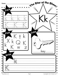 free letter k worksheet tracing coloring writing u0026 more