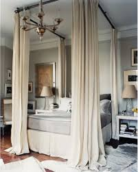 Hang Curtains From Ceiling Clever Idea Four Poster Look With Curtain Rods