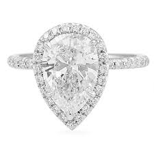 pear engagement ring pear shape diamond micropave halo engagement rings