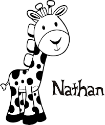 personalized name customer baby giraffe cool kids room wall quote