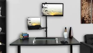 Wall Mount Laptop Desk by Stand V012c Monitor Laptop Extra Tall Desk Mount U2013 Vivous