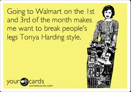 1st Of The Month Meme - going to walmart on the 1st and 3rd of the month makes me want to