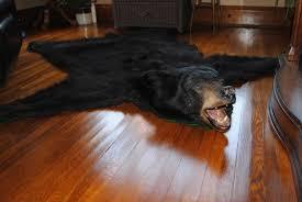 bear skin rug fireplace fire
