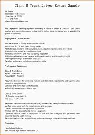 Resume Summary Of Qualifications Truck Driver Resume Summary Resume For Your Job Application