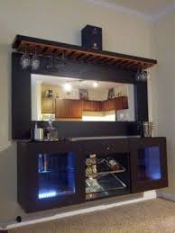Bar Wall Shelves by Glass Home Bar Furniture Foter