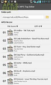 mp3 album editor apk sg mp3 tag editor for android free at apk here store