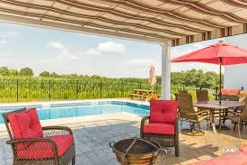 retractable pergola canopies classy poolside shade cover design idea